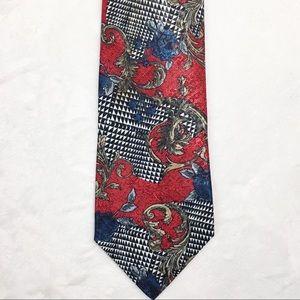 VINTAGE  Reflective Ornamental Floral Vector Tie